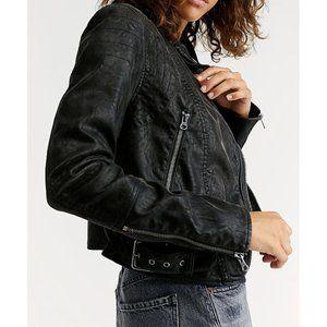 FP Fenix Moto Jacket Vegan Leather Edgy Biker Coat